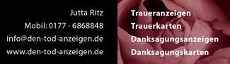 Den Tod anzeigen, Jutta Ritz