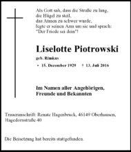 Liselotte Piotrowski