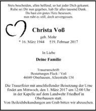Christa Voß